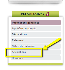 step to finding attestation fiscale on secu-independants.fr